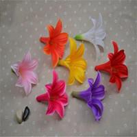 محاكاة زهرة رئيس الزنبق DIY الدعائم الزفاف الزهور الحرير الزهور الصغيرة بالجملة رؤساء زهرة الزهور الاصطناعية