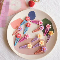 AOMU 10PCS Korea Colorful Acrylic Flower Hairpins Hairgrip F...
