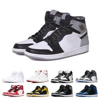 2019 New 1 1s hommes chaussures de basketball Fragment New Love Black Toe Or Top 3 Pin Green Shadow Camo Chicago baskets de sport