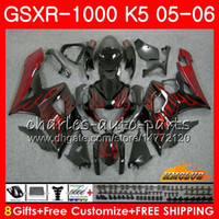 Kit+ Cowl For SUZUKI GSXR 1000 red flames hot GSX- R1000 GSXR1...