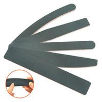 Meisha 20 piezas lima de papel de lija 100/180 búfer de lijado de doble lado bloque de limas para uñas UV Gel Polish Manicure Tools HE0012