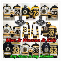 2019 Boston Bruins Stanley Copa Final Hóquei Jersey 37 Patrice Bergeron Brad Marchand David Pastrnak ZDo Chara Charlie McAVoy Rask Debrusk
