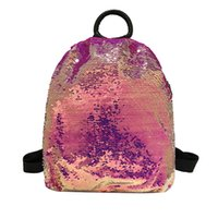 Hillsionly Fashion Ladies Sequins Large Capacity Backpack Co...