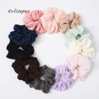 Helisopus New Bobble Hair Rope Simple Pure Color Elastic Hea...