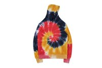19FW JUSTIN BIEBER Tie- dyed Sweater Hoodies Draw House High ...
