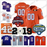 Personalizzato Clemson Tigers NCAA College Football Champions Qualsiasi numero Nome Jersey Cotton Bowl Lawrence Higgins Ross Wilkins Scelta Etienne Muse