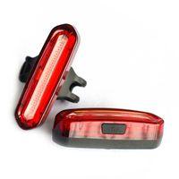 المحمولة USB قابلة للشحن دراجة الذيل ضوء LED للماء ركوب الدراجات الإطار مصباح خلفي دراجة أضواء زينة 4 نمط