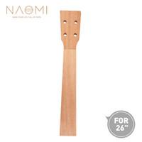 NAOMI 26 ''Ukulele Neck Sapele Tenor Ukulele Neck for 26 인치 Ukelele Uke 하와이 기타 부품 Ukulele Luthier DIY