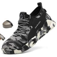 LEOSOXS Homens sapatos Aço Toe Calçados de Segurança Trabalho Casual respirável tênis ao ar livre Anti Puncture Work Boots Sapatos Masculinos