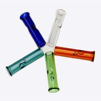 Mini dicas do filtro de vidro com a boca redonda plana para Hookahs Raw Herb seco Rolling Papel grosso Pyrex Acessórios para fumar