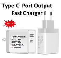 Support de charge rapide de chargeur de mur de PD de port de sortie de Type-C 3A USB Type-C 3A pour Iphone 8 Nouveau Macbook US / UK / EU
