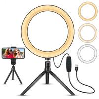 LED Ringlicht 8 '' mit Stand-Stativ, mit Mobiltelefonständer, Mini-Dimmbares Licht, 3 Lichtmodi und 11 Helligkeitsstufen