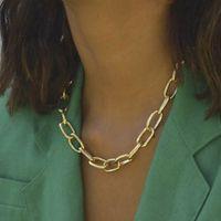 Einfache Art-Weinlese-Halskette Frauen Claviclekettenhalskette Gold Silber Modeschmuck Accessoires Großhandelspreis