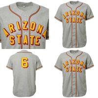ASU Arizona State Sun Şeytanlar Jersey Gömlek Özel Erkek Kadın Gençlik Beyzbol Formaları Herhangi bir isim ve sayı Çift dikişli