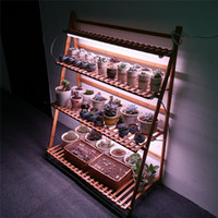 1ft 2ft 3ft T8 LED Grow luci per scaffale per fiori, doppia fila T8 Grows Tube Strip Bar per impianti succulenti Scaffale floreale Full Spectrum con UVA