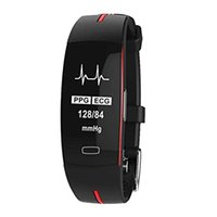 Tenir Mi P3 Smart Band Support ECG + PPG Surveillance de la fréquence cardiaque de la pression artérielle IP67 Waterpoof Podomètre Sports Fitness Bracelet.Bl