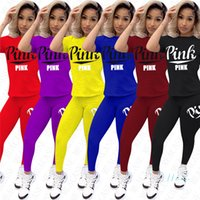 Women Tracksuit T- shirt Outfits Sportswear Fashion Letters S...