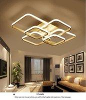 Quadrados circel Anéis luzes de teto para sala de estar quartos casa moderna Led lâmpada do teto Luminárias plafonnier brilho dropshipping LLFA