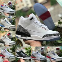 2020 Nike Air Jordan 3 Shoes Air max michael jordans retro  TINKER SP BLACK CEMENT UNC Blau PE Mokka Air Mens Basketball-Schuh-Sport-Turnschuhe