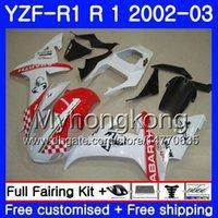 Bodys für YAMAHA YZF-1000 YZF R 1 YZF R1 Scorpion Red hot 2002 2003 Karosserie 237HM.36 YZF 1000 YZF-R1 02 YZF1000 Rahmen YZFR1 02 03
