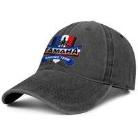Elegante Yamaha Racing Logo Unisex Denim Berretto da baseball con cappelli personalizzati Yamaha Moto Logo Emblema Bianco Motor Logos 3D Effetto