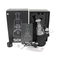 Min.6Set Autêntica SOC ENAIL Starter Kit 2600mAh TC Vape Mod com Cera Atomizer Concentrado Shatter Budder Dabber Rig