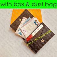 M63801 ENVELOPPE carte de visite Multicartes diseñador de moda unisex de la tarjeta de crédito de negocios de entradas sostenedor de la caja de lujo bolsillo de la carpeta del organizador