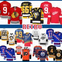 mens CCM barato 9 Bobby Hull Chicago Blackhawks Gordie Howe Detroit Red Wings Jerseys Mario Lemieux 66 Pittsburgh Penguins Hockey Jersey