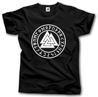 Norse Viking Pagan Valknut Rune Circle T- shirt Viking Thor S...