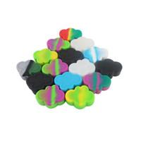 Moq = 1 pezzo cloud design 4 cavità contenitore del silicone contenitore barattolo da tacco da tappa 22ml barattoli in silicone dabs contenitore di cera