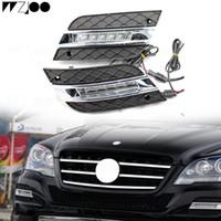 전면 범퍼 그릴 성형 LED 안개등 주간 야간 항행 등 안개 램프 For BMW F10 F18 5series 520i 525i 530i 535i 2009 -2013