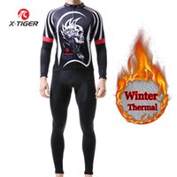 X- Tiger Winter Thermal Fleece Cycling Jersey Set Keep Warm B...