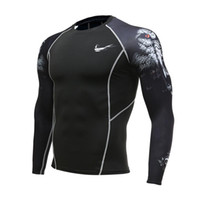 New Mens Compression Shirts 3D Teen Wolf Long Sleeve T Shirt...