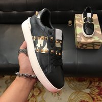 Size 38- 44 Men casual shoes camouflage genuine leather lace ...