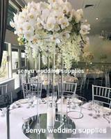 Akrilik Çubuk ile akrilik Vazo Centerpieces Çiçek Standı, Lucite Pleksiglas Düğün Parti Centerpieces senyu0005