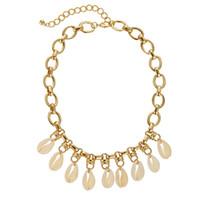 2020 Модный сплав Shell ожерелье Мода Bohemian Индивидуальность цепи ожерелье для женщин Vintage Геометрическая ожерелье ювелирных изделий