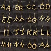 7e1081492 Fashion Initials Letter Dangle Earrings Personality Hyperbolic Gold 26  Alphabet Drop Earrings For women Luxury Jewelry Gift