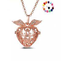 Diffusor Halsketten Anhänger 4 Farben Engelsflügel Aromatherapie Diffusor Halskette Ätherisches Öl Diffusor Halsketten Modeschmuck Geschenke