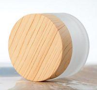 5G 10G 15g 30g 50g 100g Bouteilles Cosmetic Jar Cream Crème de maquillage vide peut être rempli de bouteille d'emballage de charbon en bois de bambou
