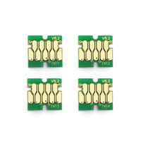 4 Unids / lote T7411-T7414 T7411 Chip de tanque de tinta para Epson SureColor F6000 F6070 F6200 F6270 F7000 F7070 F7100 F7170 F7200 F7270 Cartucho Chip