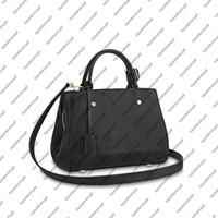 M41048 montaigne mm حقيبة يد المرأة قماش تنقش desinger عبر الجسم حزام جلد البقر جلد الكتف حقيبة حمل محفظة حقيبة