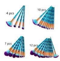 Marken-Einhorn-Pinsel-Set und Meerjungfrau-Pinsel-Set: Eye Nose Foundation Power Brush geben Schiff frei