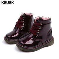 New Children Shoes Baby Girls Boots Boys Student PU Leather ...