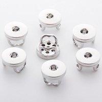 Estilos de la mezcla de aleación de 18 mm Noosa intercambiables de encaje botones de la base DIY Ginger Snap PULSERA accesorio de la joyería
