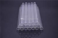 Tubo recto de vidrio pirex de Rose del amor de cristal paja Eco vidrio borosilicato pajas de beber tubo de fumar en pipa