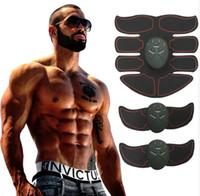 Nova Inteligente EMS Estimulador Muscular ABS Abdominal Toner Muscular Body Shaping Massagem Patch de Massagem Sliming Trainer Exerciser Unisex