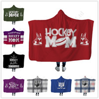 3D Print Hockey Mom Hooded Blankets Winter Thick Sherpa Flee...