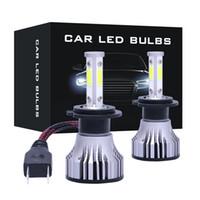Mini 4 paneles COB ilumina H1 H3 H7 H8 bombilla de niebla 9005 9006 5202 9004 880 h4 llevado linterna del coche kit 16000LM 72W 6500K lámpara frontal IP68 a prueba de agua