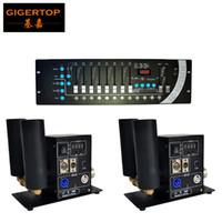 Gigertop 2xlot Дисплей Двойные Трубы CO2 Jet Machine Светодиодный Дымный Эффект CO2 Устройство + 1 шт. 192 ДМХ Контроллер Сцена Освещение 512 DMX Консоль