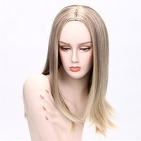 Hot selling fashion long hair wig 20 inch blonde straight wi...